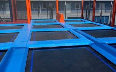 Premiär för vår trampolinpark på taket